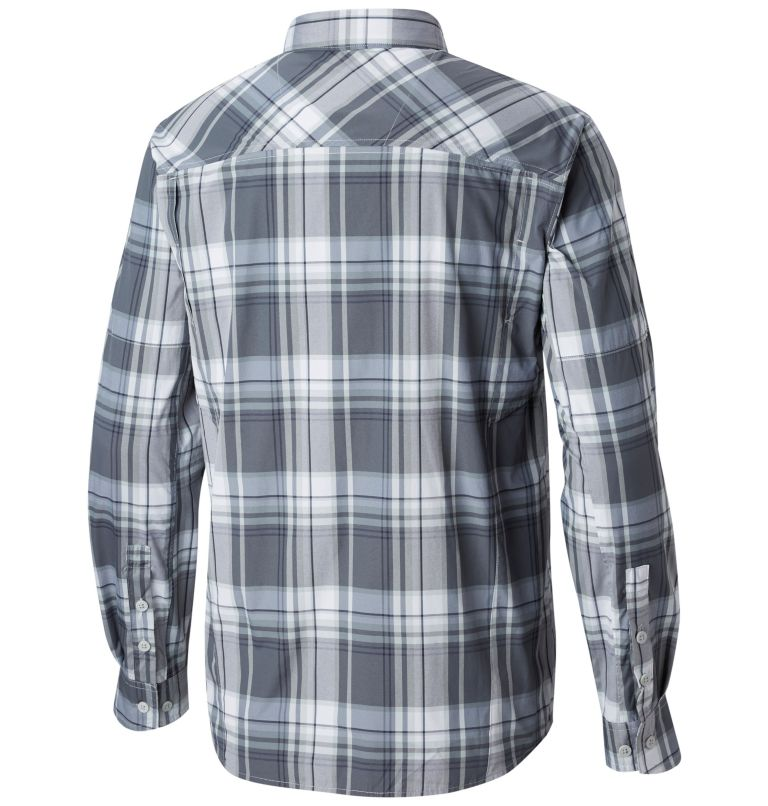 Men's Silver Ridge™ Plaid Long Sleeve Shirt Men's Silver Ridge™ Plaid Long Sleeve Shirt, back