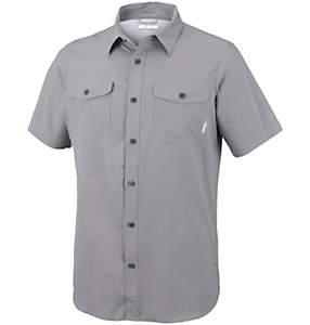 Camicia a maniche corte in tinta unita Utilizer™ II da uomo