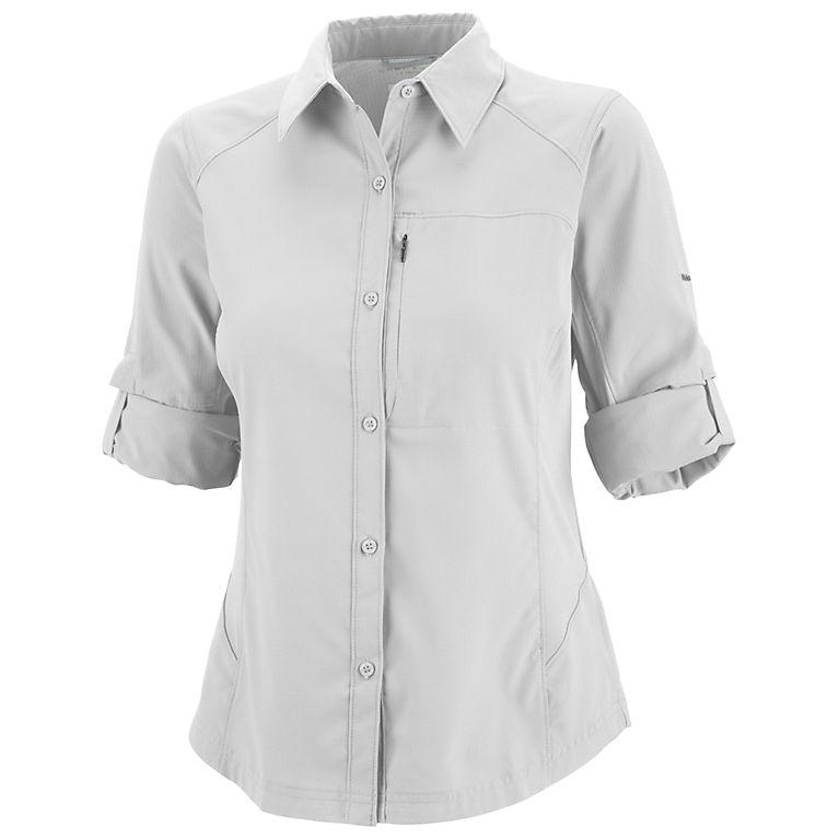 ad2306198ef White Women s Silver Ridge™ Long Sleeve Shirt - Plus Size