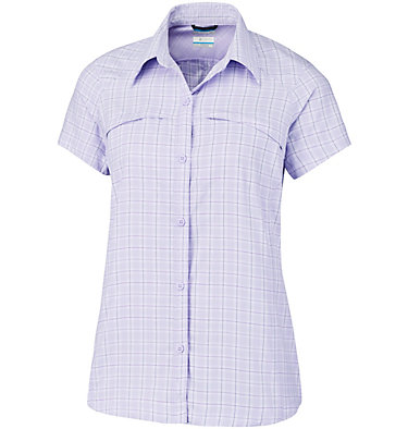 Camisa de manga corta a cuadros Silver Ridge™ para mujer –Talla Grande , front