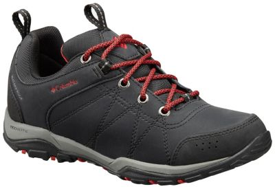 Columbia FIRE VENTURE WATERPROOF - Walking boots - black/burnt henna fkLJUS