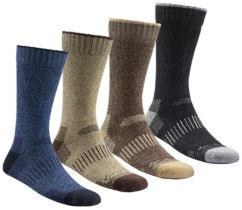 Men's Moisture Control Crew Sock - 4 Pack