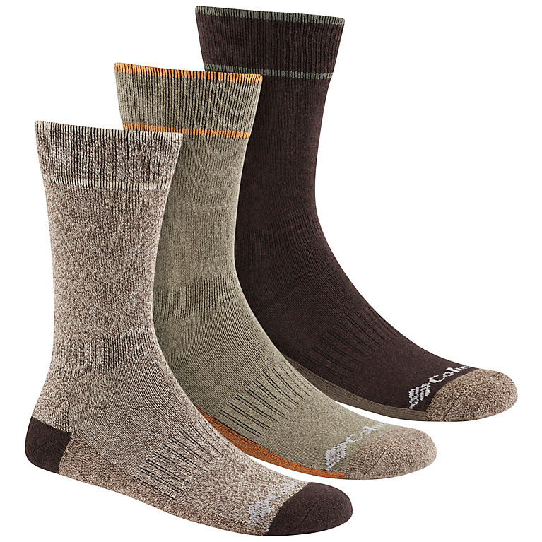 38bdeb83f Khaki/Brown Men's Cotton Casual Crew Sock, ...