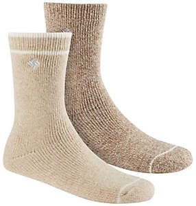 Women's Brushed Fleece Wool Socks - 2PR