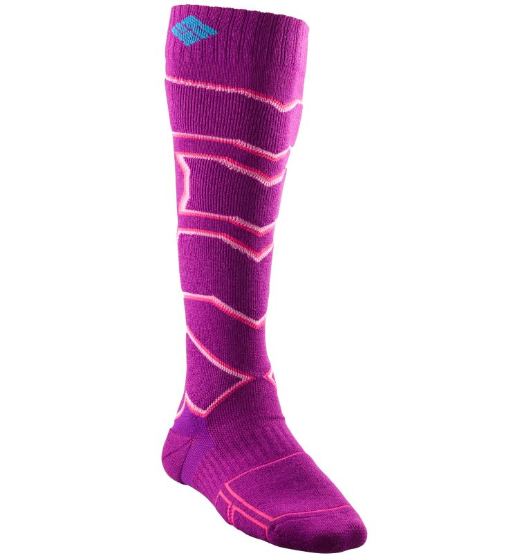 Ski Over The Calf Medium Sock | 515 | S Women's Ski Over The Calf Medium Sock, Vivid Viola, front