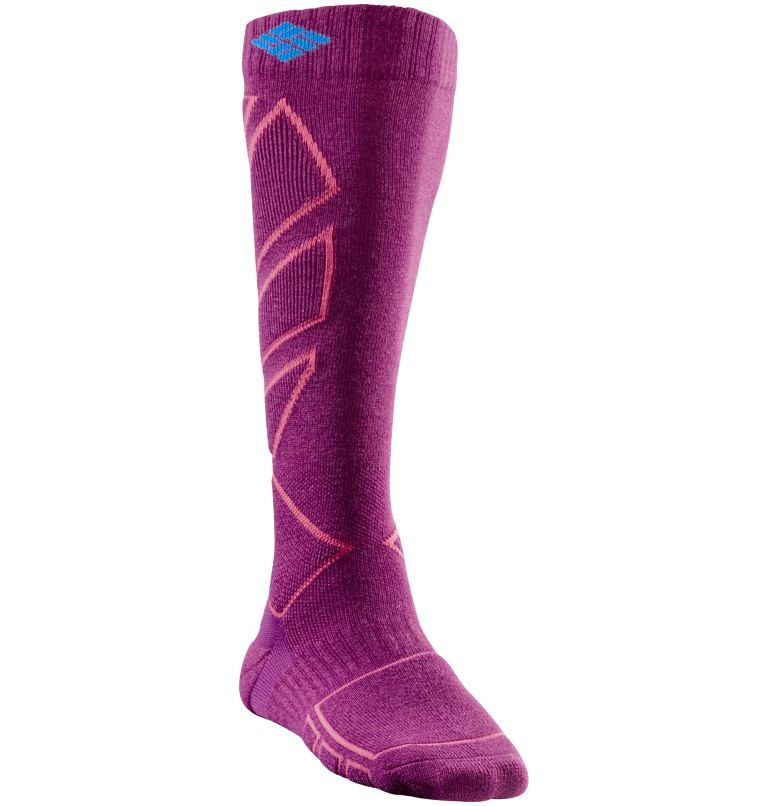 Women's Snowboard Over The Calf Medium Sock Women's Snowboard Over The Calf Medium Sock, Vivid Viola, front