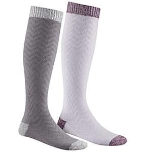 Women's Micro Poly Chevron Texture Knee-Hi Sock 2 Pair