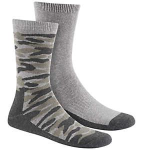 Men's Wool Blend Camo Boot Crew Socks - 2PR