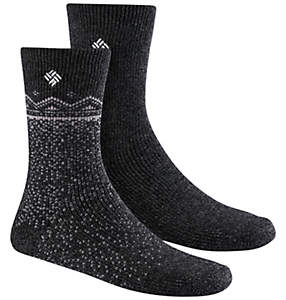 Women's Snowfall Wool Crew Socks - 2PR