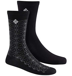 Women's Lightweight Wool Snowflake Socks - 2PR