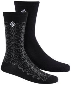 Women's Lightweight Wool Snowflake Socks - 2PR