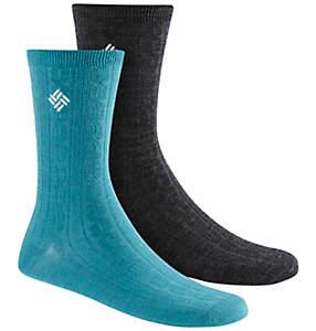Women's Lightweight Wool Cable Socks - 2PR