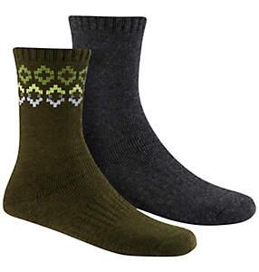 Women's Broke Fair Isle Wool  Socks - 2PR