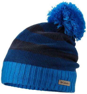 Winter Blur Striped Pom Pom Beanie  1af610702177