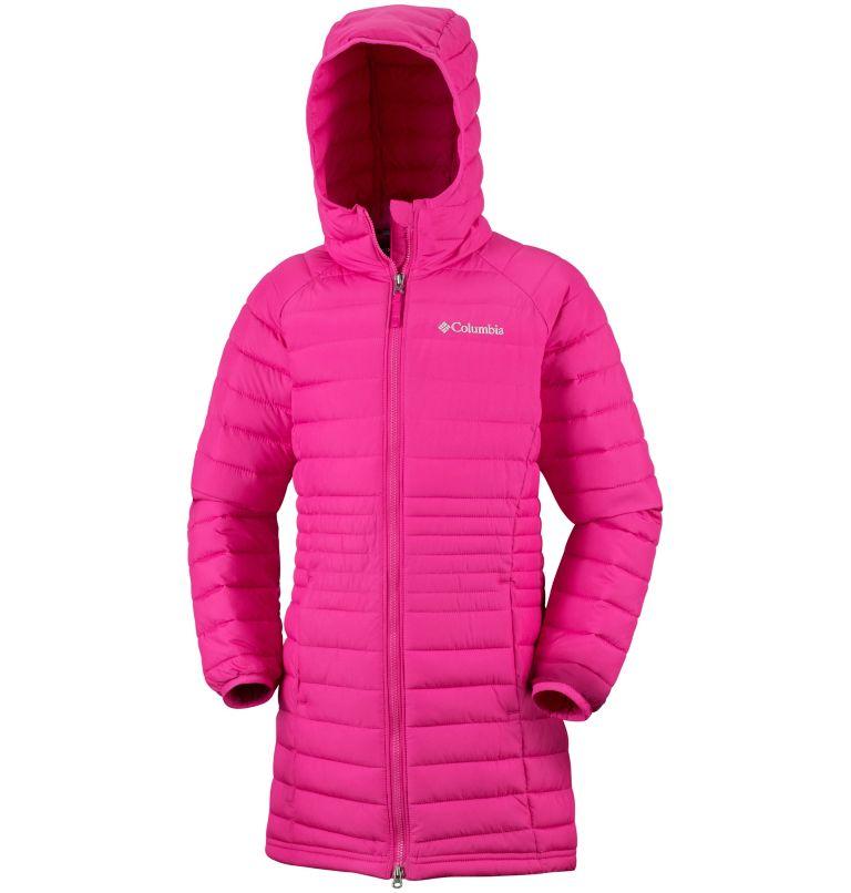 Girls' Long Hooded Powder Lite™ Jacket Girls' Long Hooded Powder Lite™ Jacket, a1