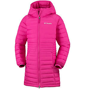 Girls' Long Hooded Powder Lite™ Jacket