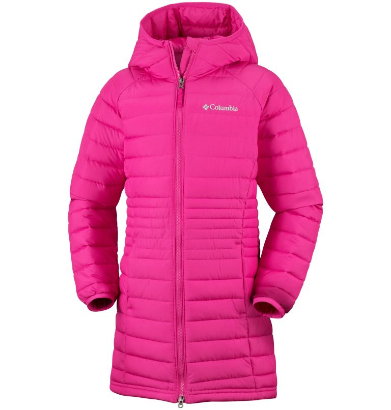 Veste Longue À Capuche Powder Lite™ Fille Veste Longue À Capuche Powder Lite™ Fille, front
