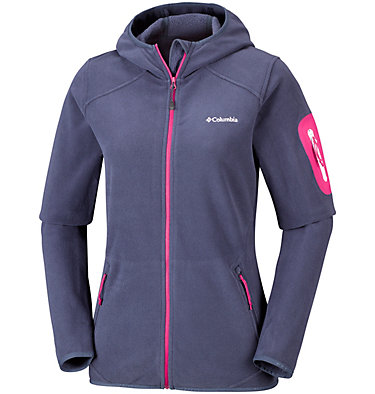 Outdoor Novelty™ Kapuzen-Fleecejacke für Damen , front