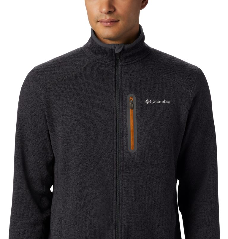 Altitude Aspect™ FZ | 011 | L Men's Altitude Aspect™ Full Zip Fleece Jacket, Shark, Burnished Amber, a1