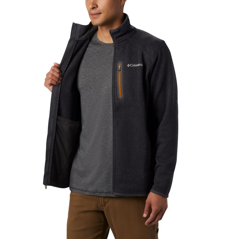 Altitude Aspect™ FZ | 011 | L Men's Altitude Aspect™ Full Zip Fleece Jacket, Shark, Burnished Amber, a3