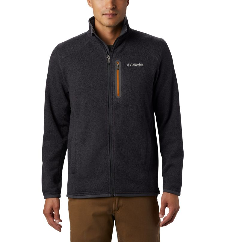 Altitude Aspect™ FZ | 011 | L Men's Altitude Aspect™ Full Zip Fleece Jacket, Shark, Burnished Amber, front
