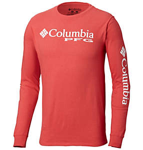 Men's PFG Logo Graphic Long-Sleeve T-Shirt