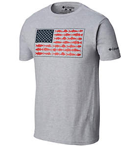 Men's PFG American Fish Flag T-shirt