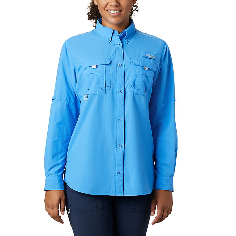 e1ec9edb53a Harbor Blue Women's PFG Bahama™ Long Sleeve Shirt, View 0