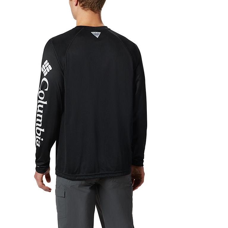 cf045ae4 Black, Cool Grey Logo Men's PFG Terminal Tackle™ Long Sleeve Tee, View 1