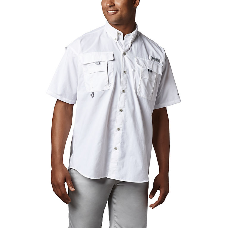 a1b92aa8322 White Men's PFG Bahama™ II Short Sleeve Shirt, View 0