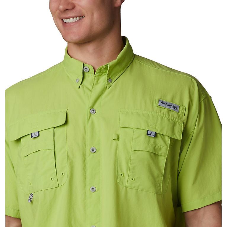 5781003a Green Glow Men's PFG Bahama™ II Short Sleeve Shirt, View 2