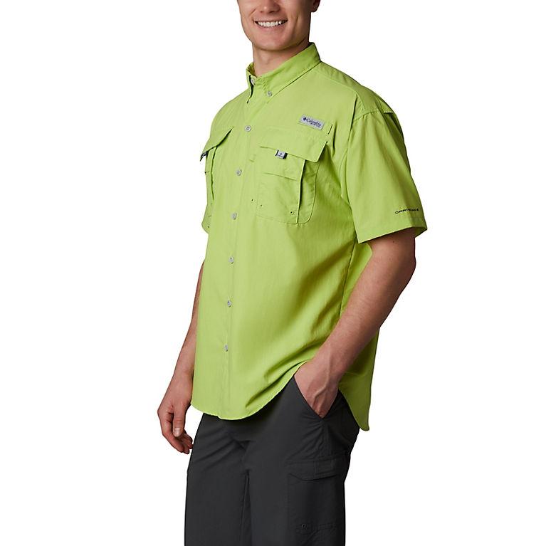 42f7d6f3 Green Glow Men's PFG Bahama™ II Short Sleeve Shirt, View 0