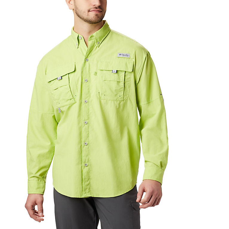 27a46585f Green Glow Men's PFG Bahama™ II Long Sleeve Shirt, View 0