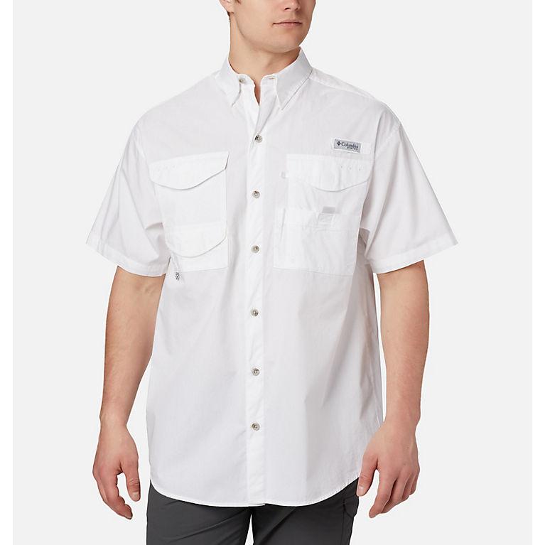 20e38e1c7f5 White Men's PFG Bonehead™ Short Sleeve Shirt, View 0