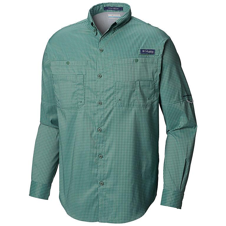 d0250cf618a08 Thyme Green Mini Plaid Men s PFG Super Tamiami™ Long Sleeve Shirt