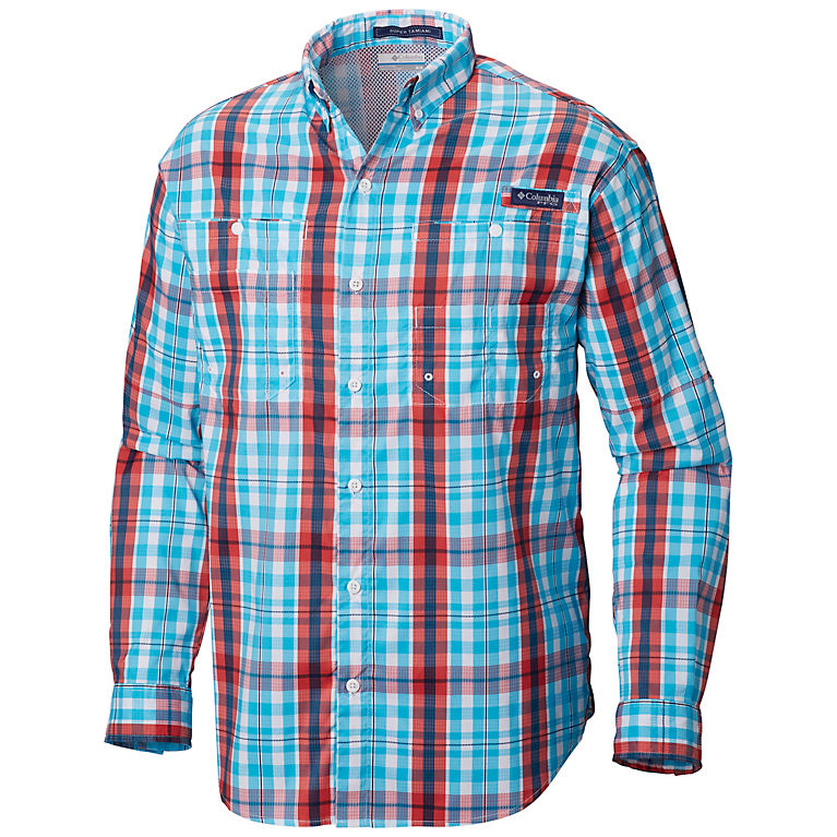 eed7954571d Atoll Multi Plaid Men's PFG Super Tamiami™ Long Sleeve Shirt, ...