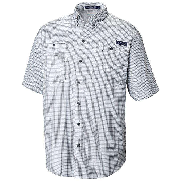 290dccf6a Graphite Mini Plaid Men s PFG Super Tamiami™ Short Sleeve Shirt