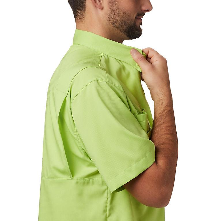 a63bbd01 Green Glow Men's PFG Tamiami™ II Short Sleeve Shirt, View 3