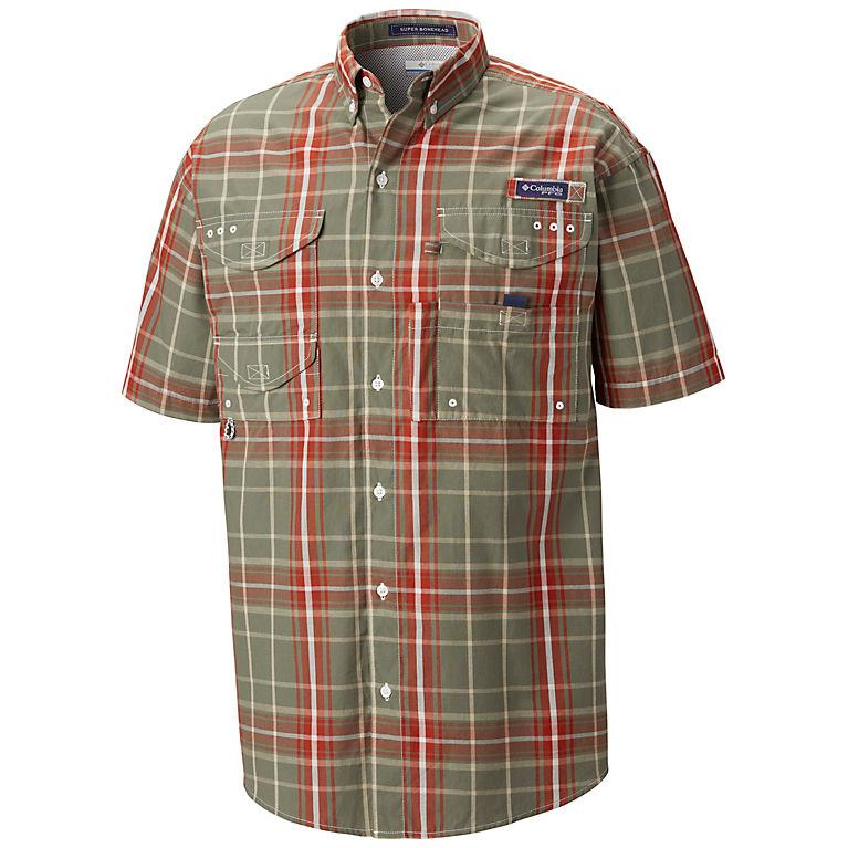 731227916b0 Cypress Large Plaid Men's PFG Super Bonehead Classic™ Short Sleeve Shirt,  View 0