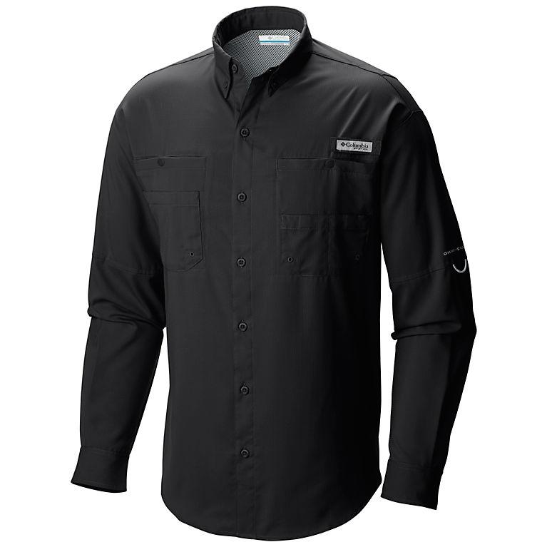 bf412f0f668 Black Men's PFG Tamiami™ II Long Sleeve Shirt - Slim Fit, View 0