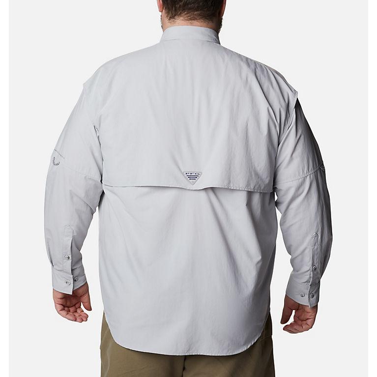 289c9f9b9f2 Cool Grey Men s PFG Bahama™ II Long Sleeve Shirt - Big