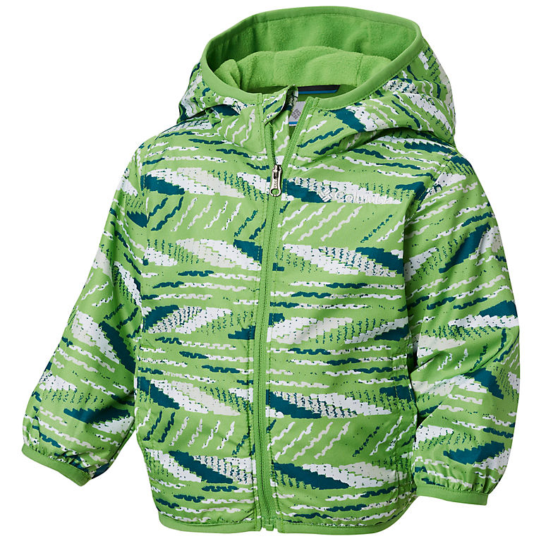 5e6a75adf Cyber Green Beach Stripe Infant Mini Pixel Grabber™ II Wind Jacket, View 0