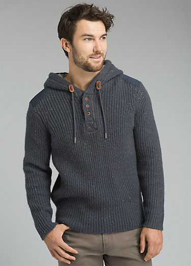 Hooded Henley Sweater