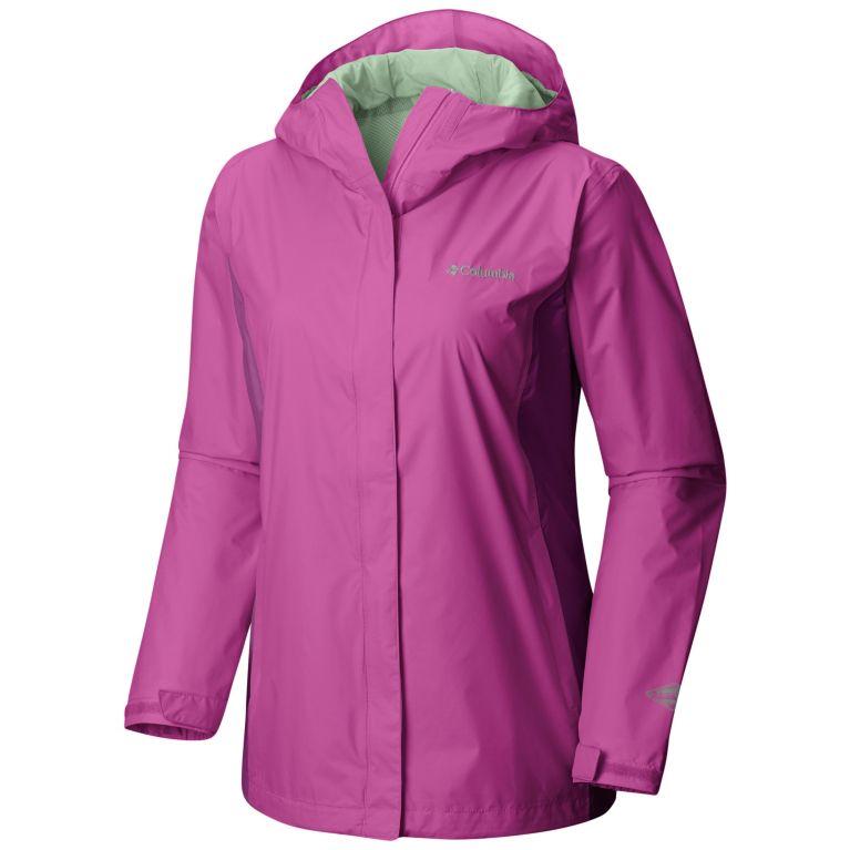 Columbia Womens Arcadia II Rain Jacket (Bright Lavender)