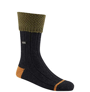 Women's Wool Texture Turn Over Cuff Crew Socks