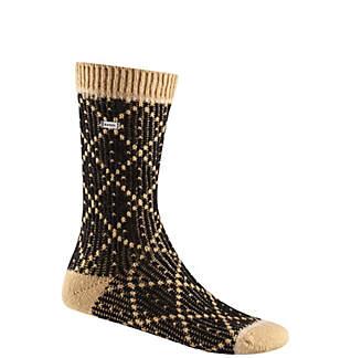 Women's Diamond Pattern Crew Sock