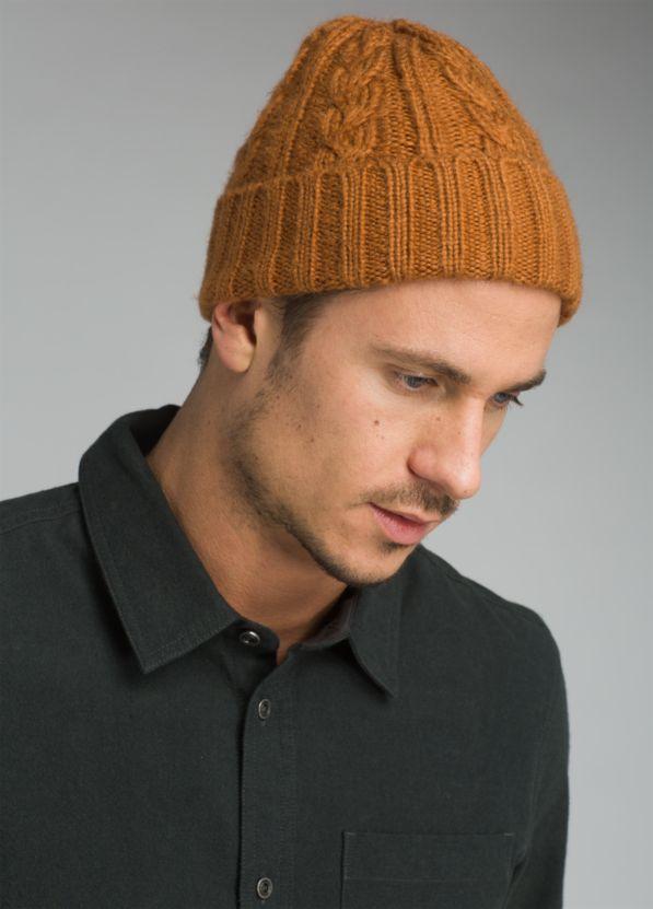 Men's Cable Knit Beanie Men's Cable Knit Beanie, Burnt Caramel