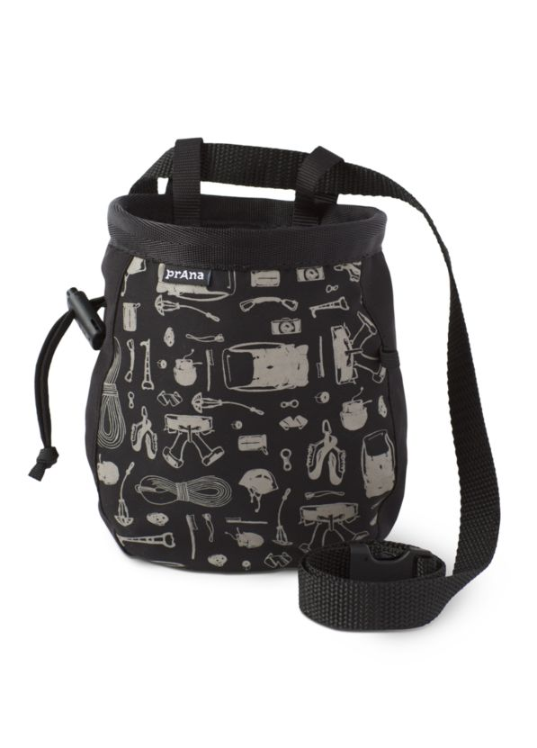 Graphic Chalk Bag with Belt Graphic Chalk Bag with Belt, Blue