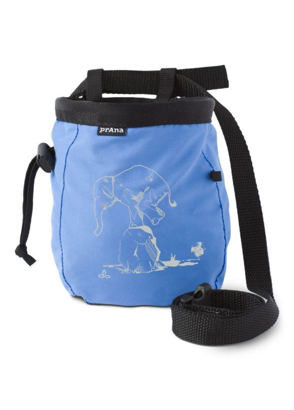 Graphic Chalk Bag with Belt, Blue