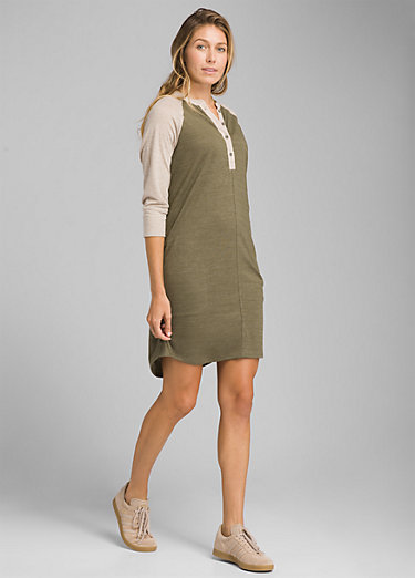 Cozy Up Henley Dress